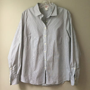 J. Crew Small Haberdashery Pinstripe Button-Up